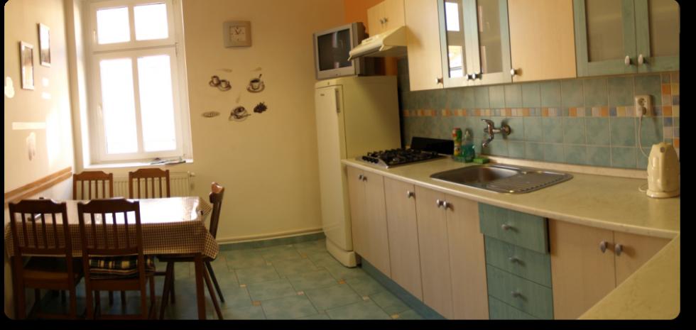 Ubytovna Duchcov u města Teplice - kuchyň a lednice